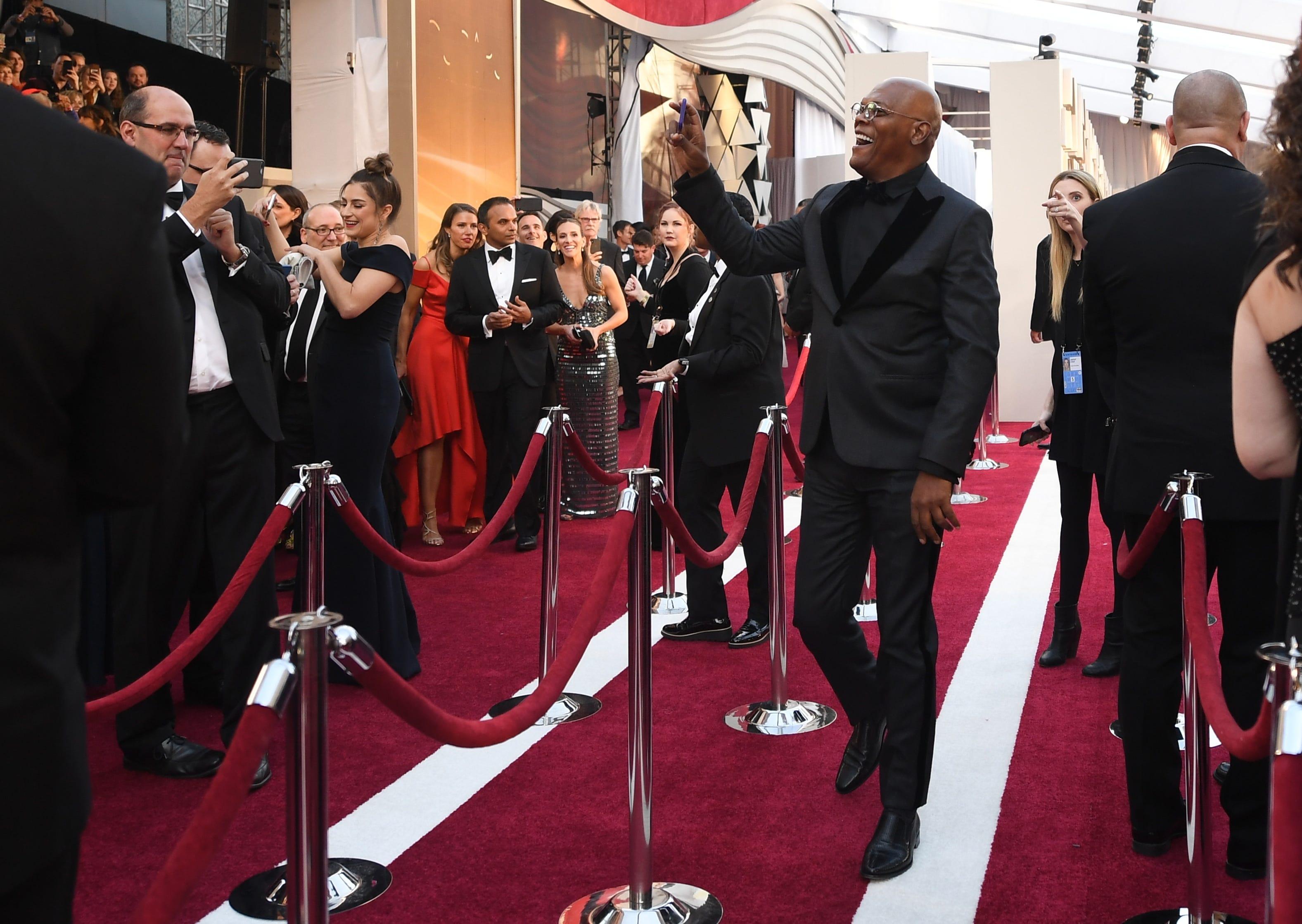 February 24, 2019; Los Angeles, CA, USA; Samuel L. Jackson arrives at the 91st Academy Awards at the Dolby Theatre. Mandatory Credit: Robert Hanashiro-USA TODAY NETWORK (Via OlyDrop)