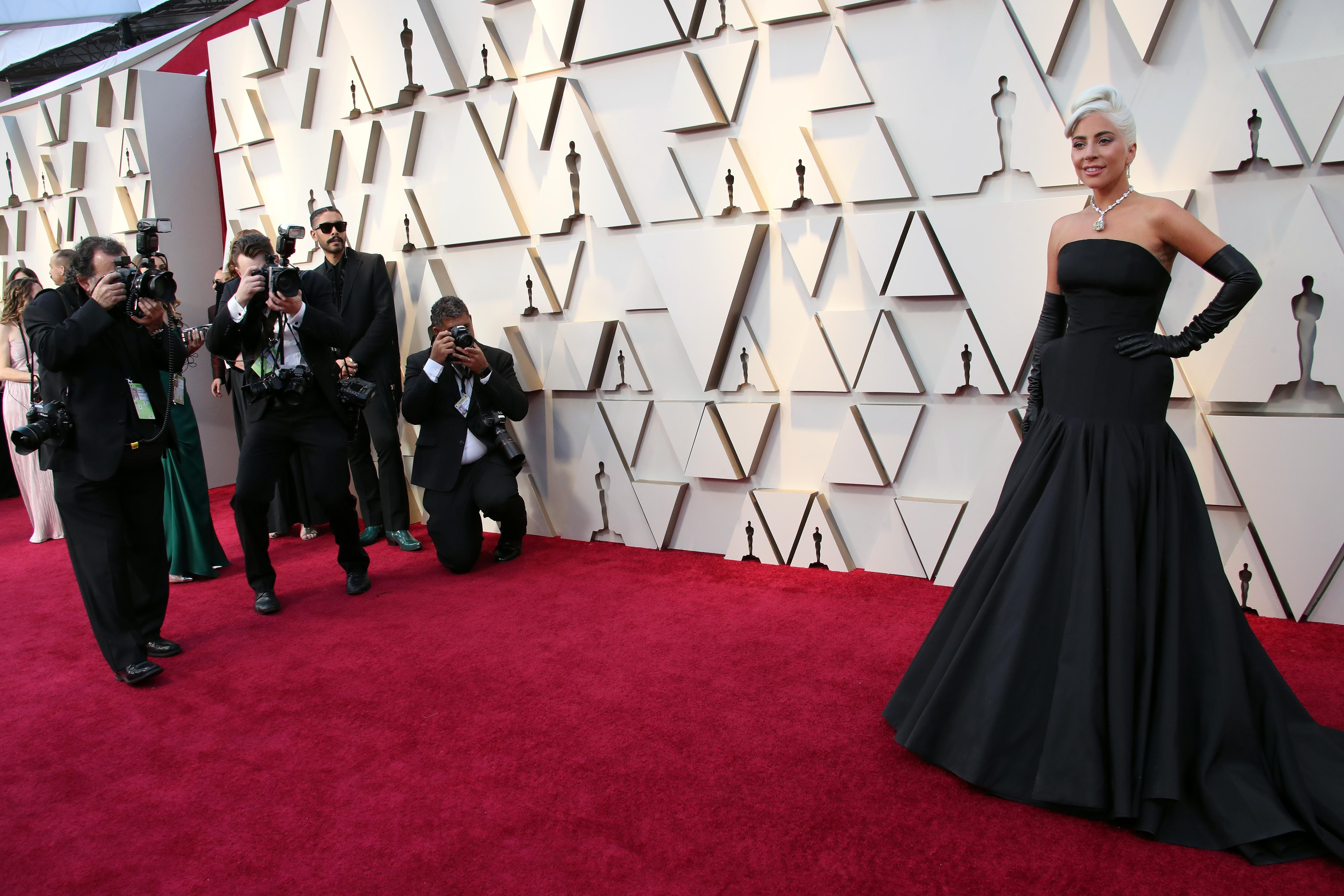 February 24, 2019; Los Angeles, CA, USA; Lady Gaga arrives at the 91st Academy Awards at the Dolby Theatre. Mandatory Credit: Dan MacMedan-USA TODAY NETWORK