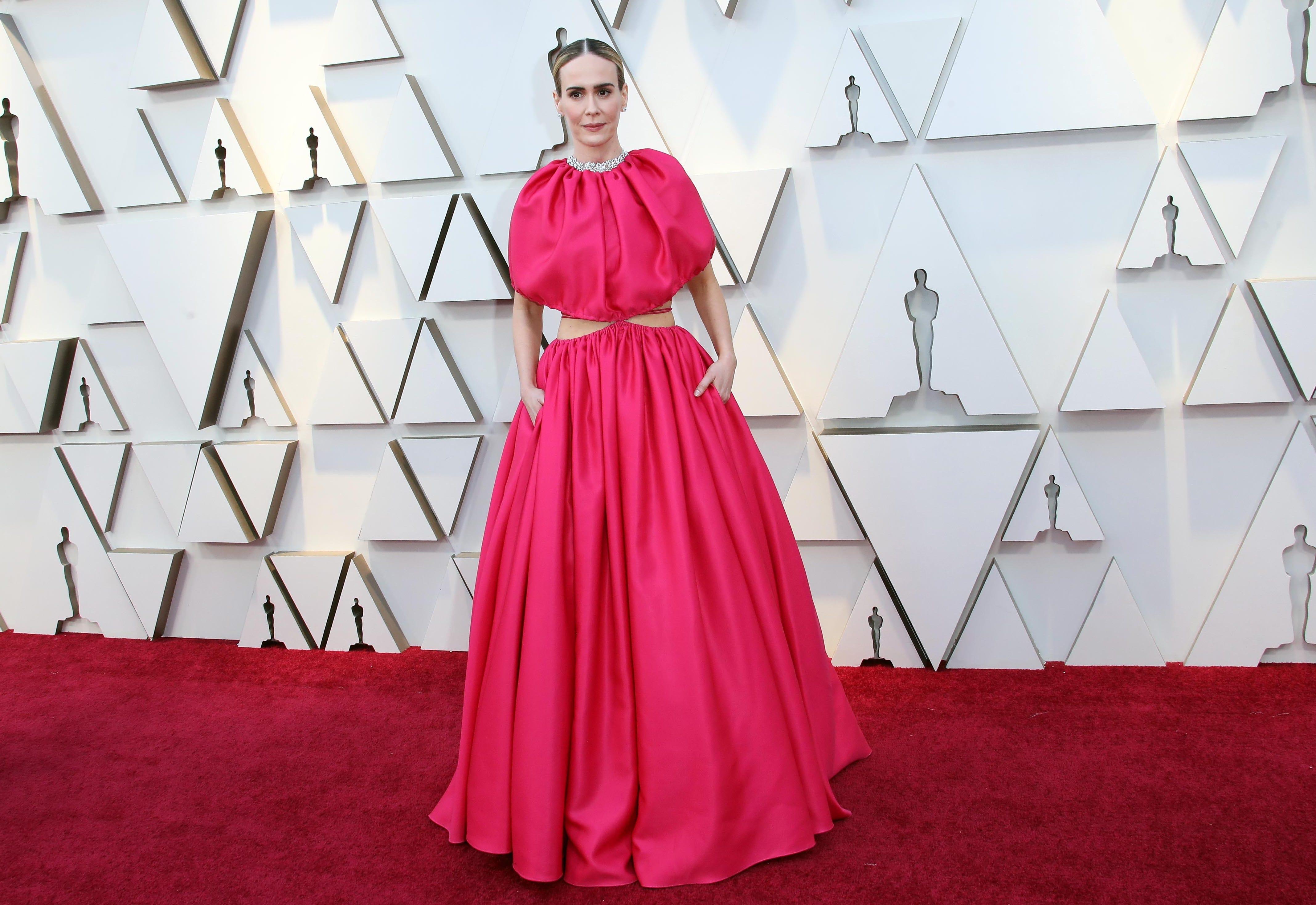 February 24, 2019; Los Angeles, CA, USA; Sarah Paulson arrives at the 91st Academy Awards at the Dolby Theatre. Mandatory Credit: Dan MacMedan-USA TODAY NETWORK