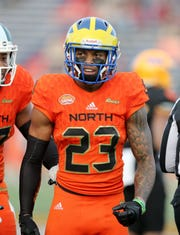 Delaware safety Nasir Adderley is a cousin of former Packers cornerback and Pro Football Hall of Famer Herb Adderley.