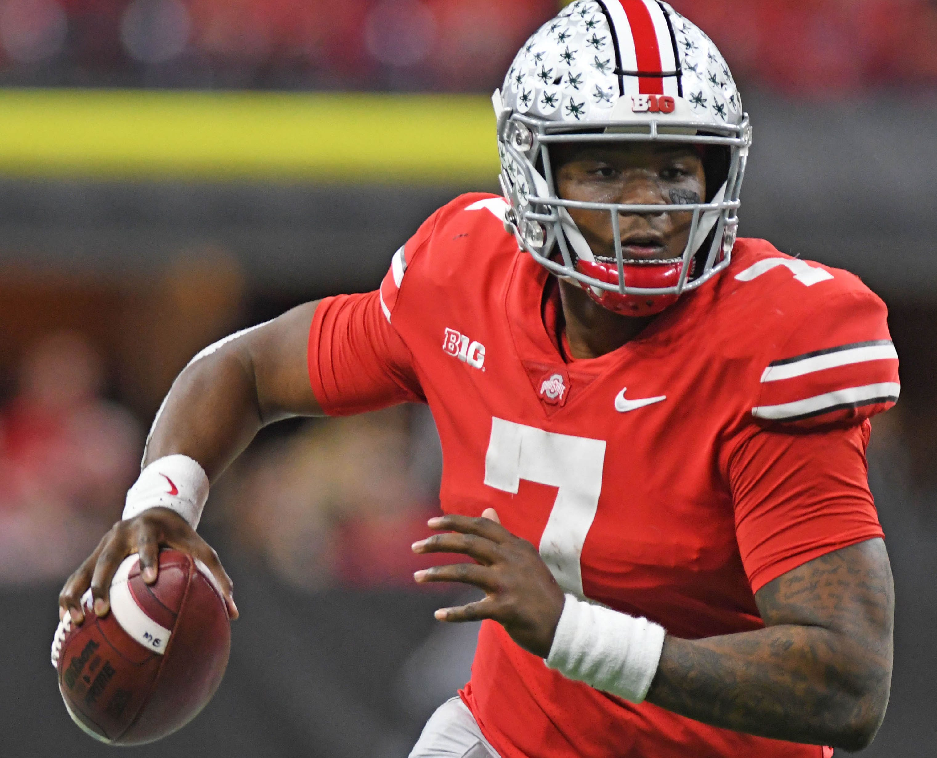 Dwayne Haskins is in the running to be the top quarterback selected in the upcoming NFL draft.