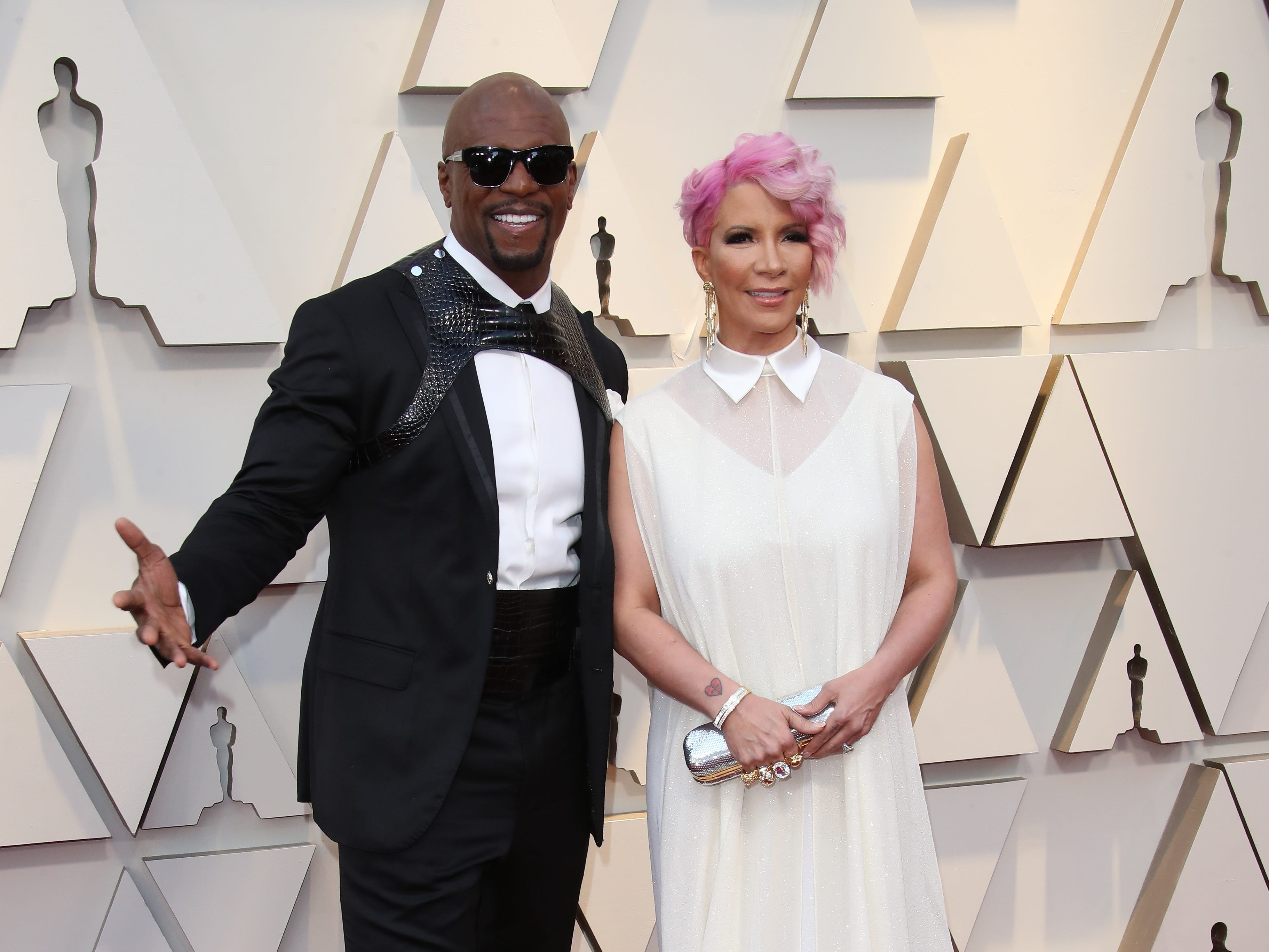 Terry Crews, left, and Rebecca King-Crews