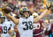Iowa tight end T.J. Hockenson's stock is on the rise.
