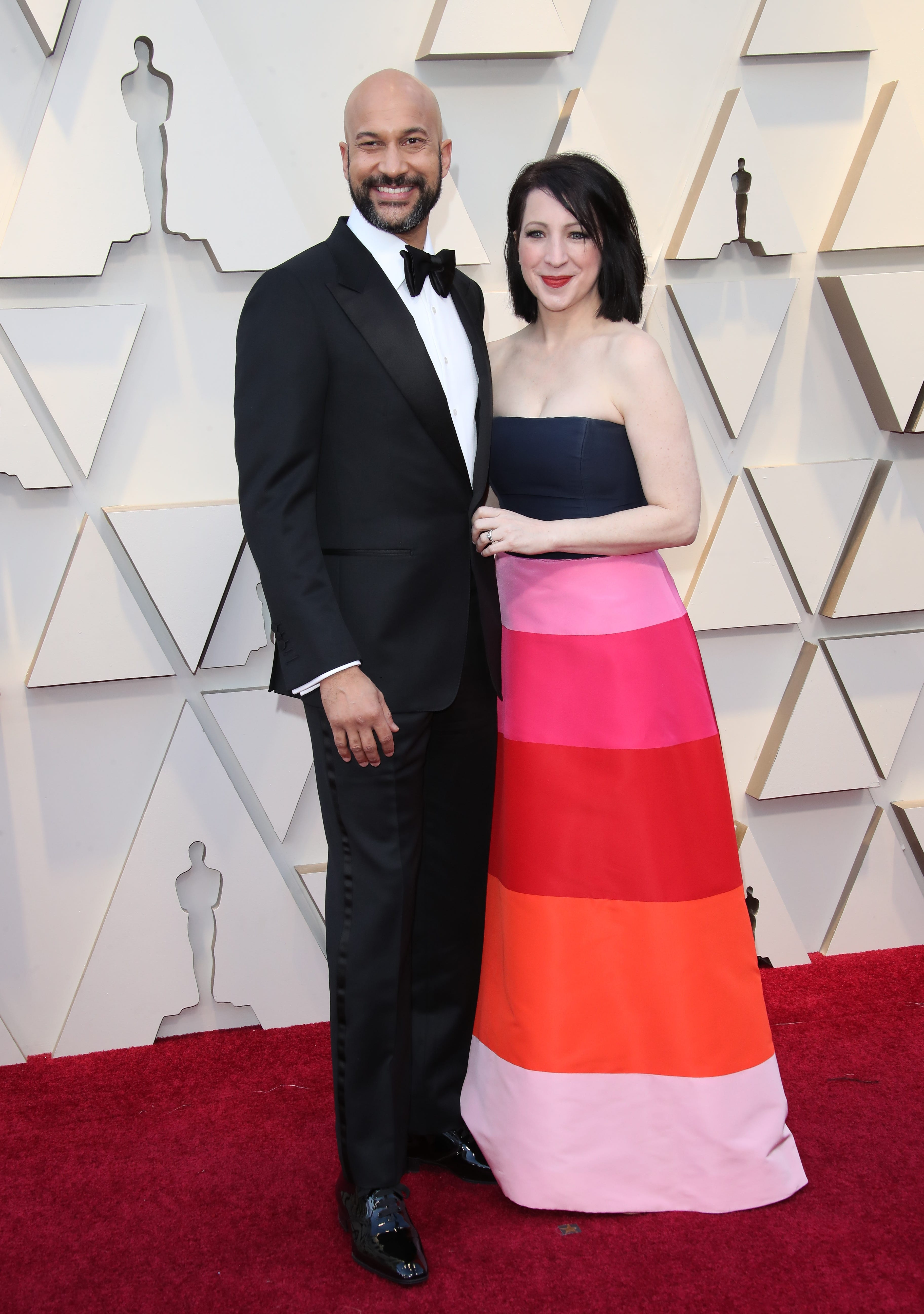 February 24, 2019; Los Angeles, CA, USA; Keegan-Michael Key, left and Elisa Pugliese arrive at the 91st Academy Awards at the Dolby Theatre. Mandatory Credit: Dan MacMedan-USA TODAY NETWORK (Via OlyDrop)