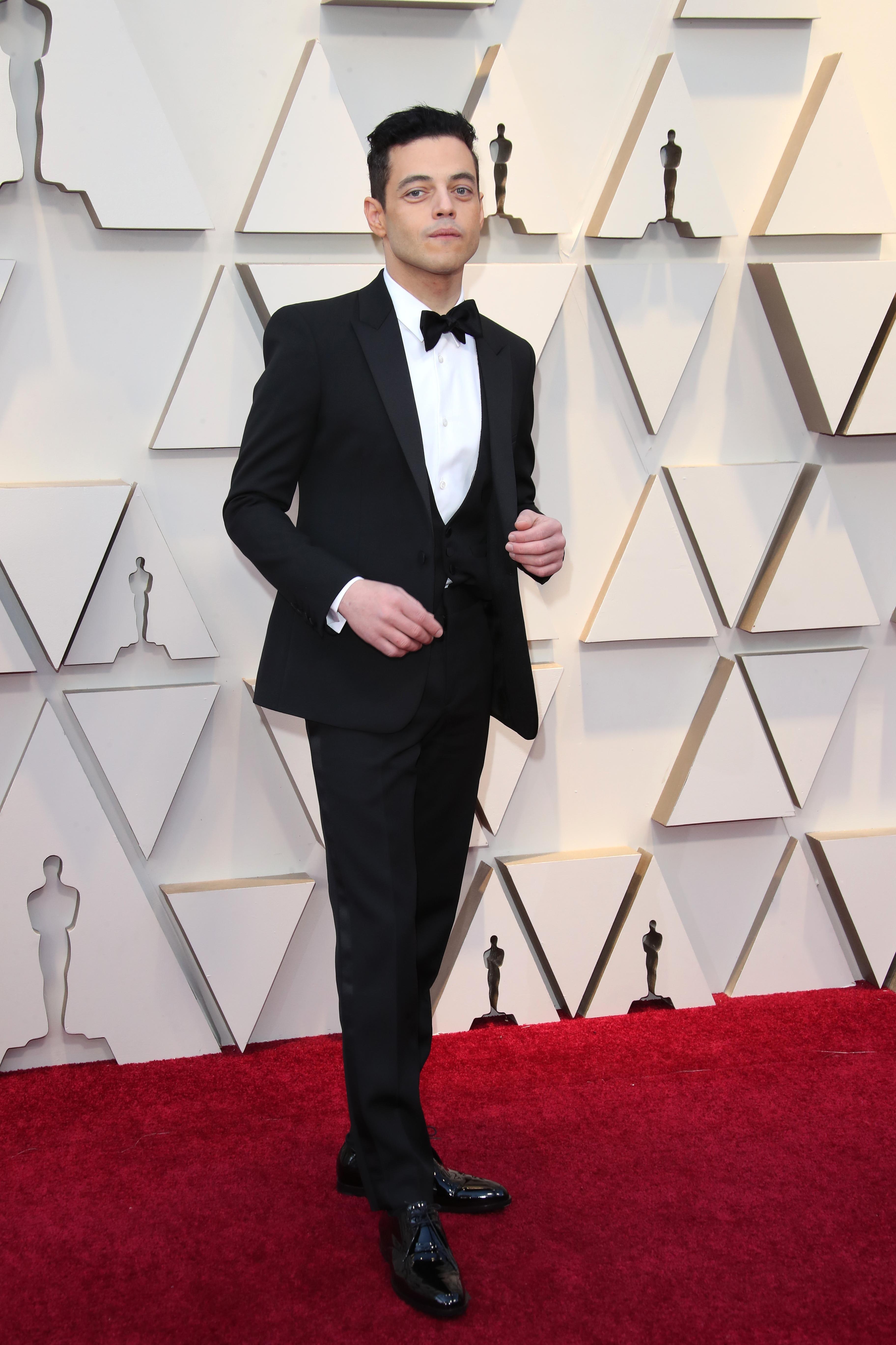 February 24, 2019; Los Angeles, CA, USA; Rami Malek arrives at the 91st Academy Awards at the Dolby Theatre. Mandatory Credit: Dan MacMedan-USA TODAY NETWORK