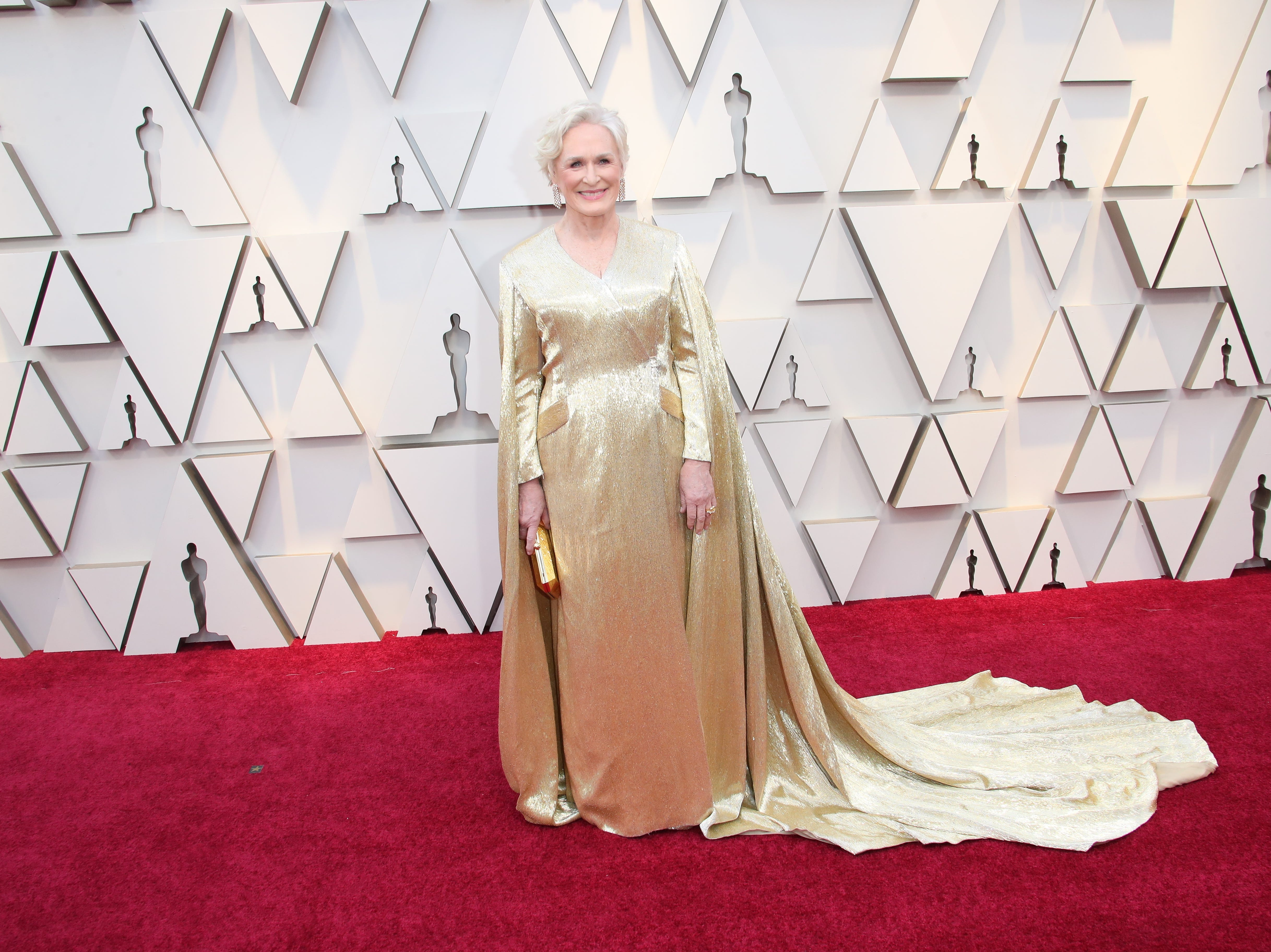 February 24, 2019; Los Angeles, CA, USA; Glenn Close arrives at the 91st Academy Awards at the Dolby Theatre. Mandatory Credit: Dan MacMedan-USA TODAY NETWORK (Via OlyDrop)