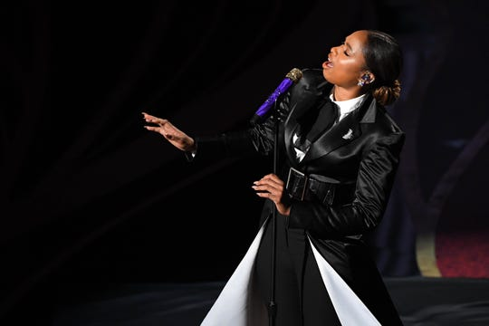 Jennifer Hudson performs during the show.