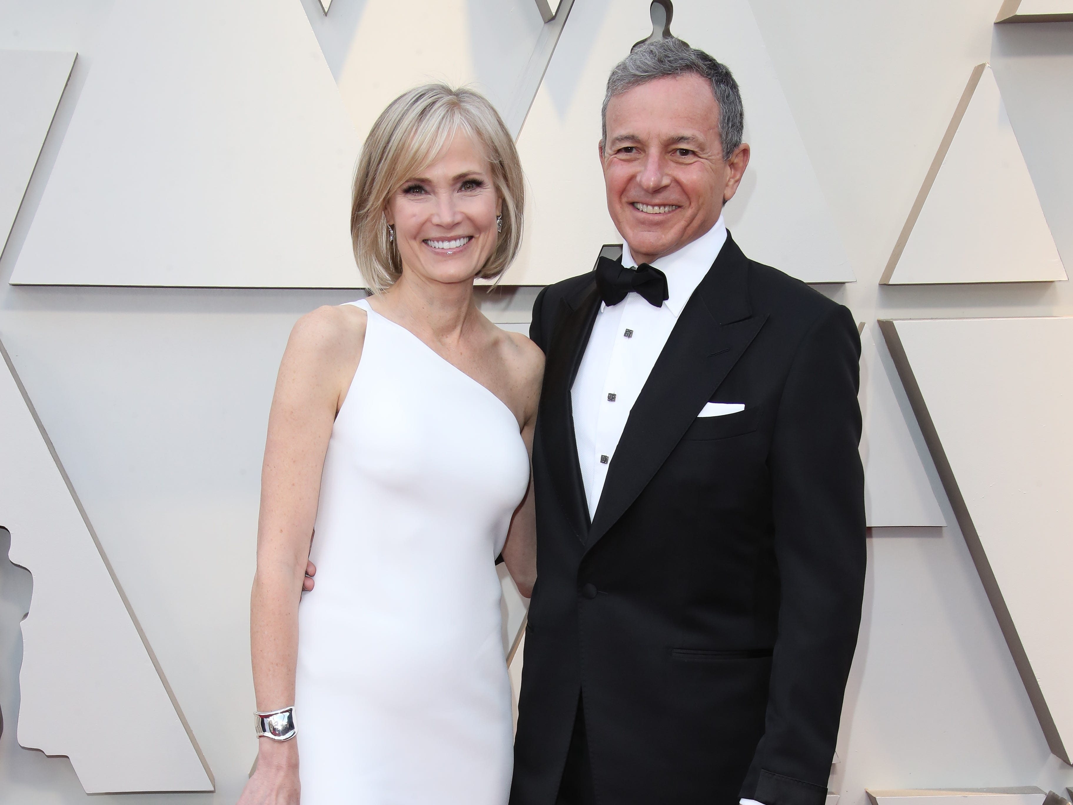February 24, 2019; Los Angeles, CA, USA; Willow Bay, left, and Robert Iger arrive at the 91st Academy Awards at the Dolby Theatre. Mandatory Credit: Dan MacMedan-USA TODAY NETWORK (Via OlyDrop)
