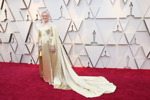 Glenn Close arrives at the 91st Academy Awards on Feb. 24, 2019.