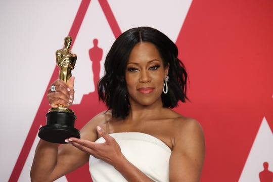 Regina King won the Oscar for supporting actress for her role in 'If Beale Street Could Talk' at Sunday's ceremony in Los Angeles.