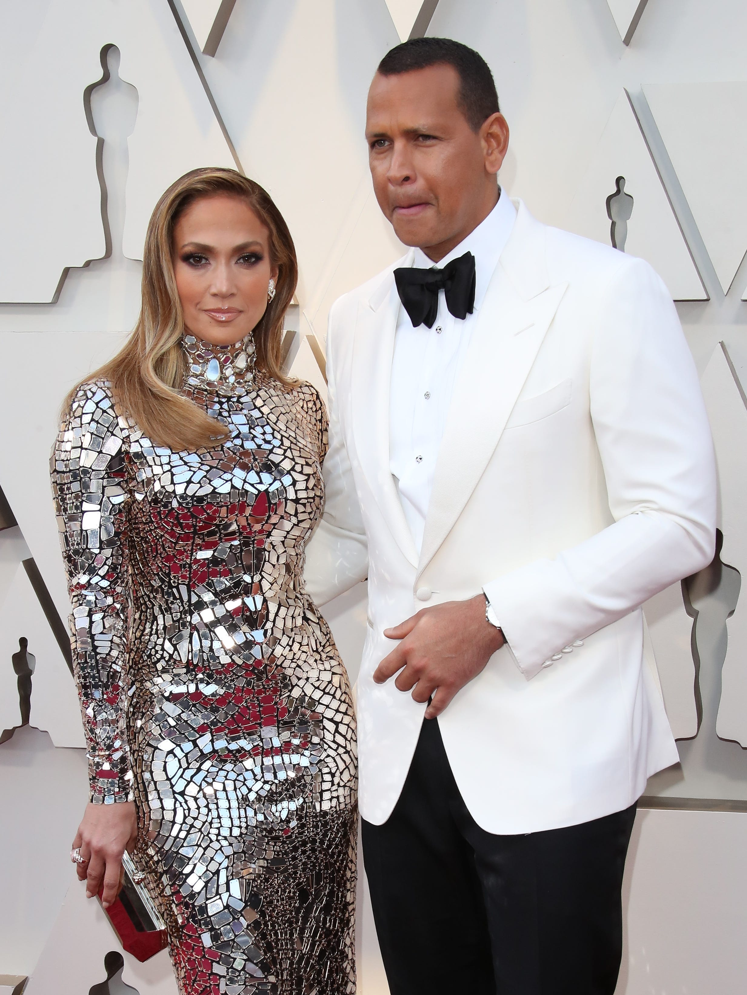 Alex Rodriguez and Jennifer Lopez arrive at the 91st Academy Awards.