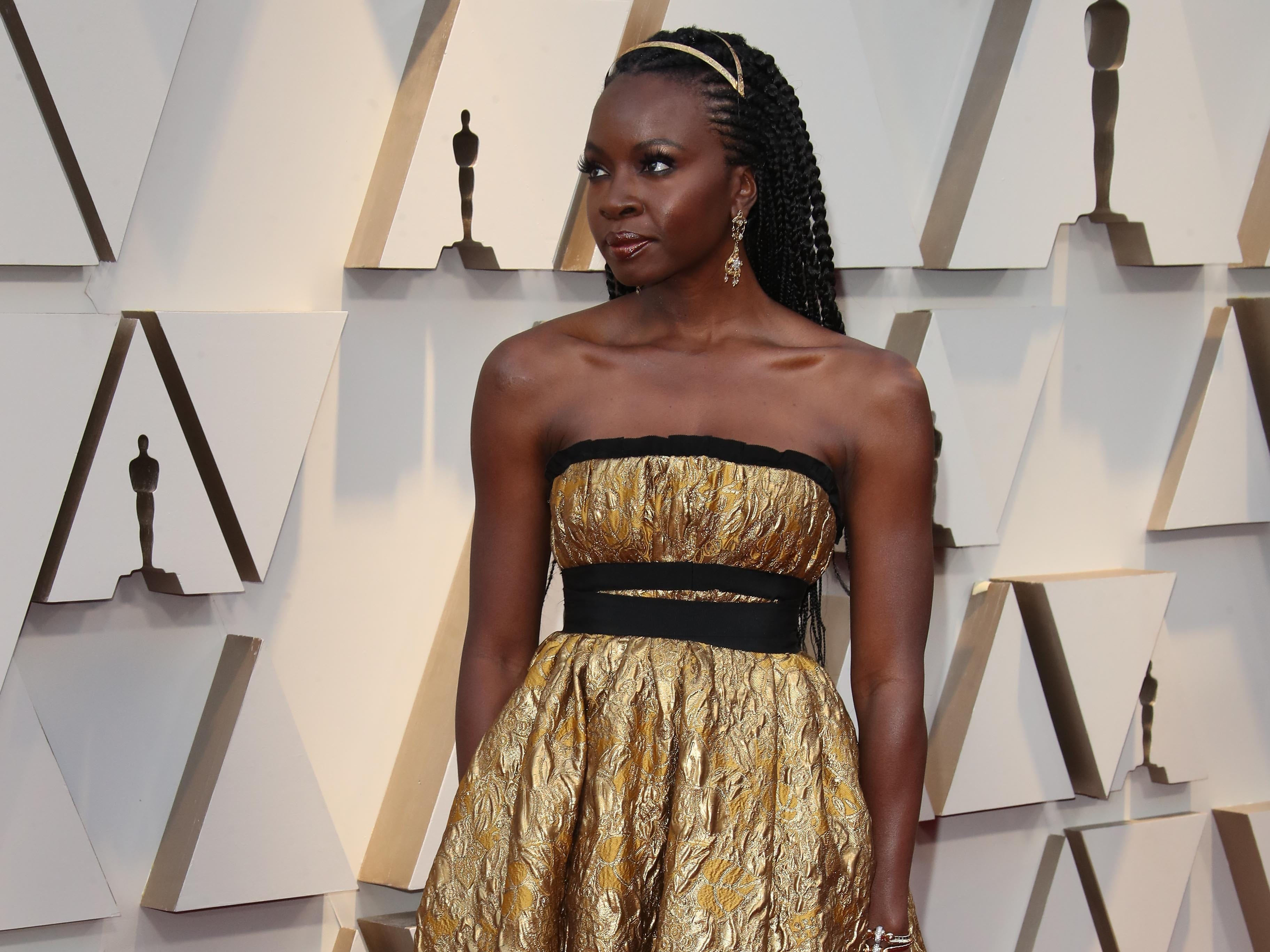 February 24, 2019; Los Angeles, CA, USA; Danai Gurira arrives at the 91st Academy Awards at the Dolby Theatre. Mandatory Credit: Dan MacMedan-USA TODAY NETWORK