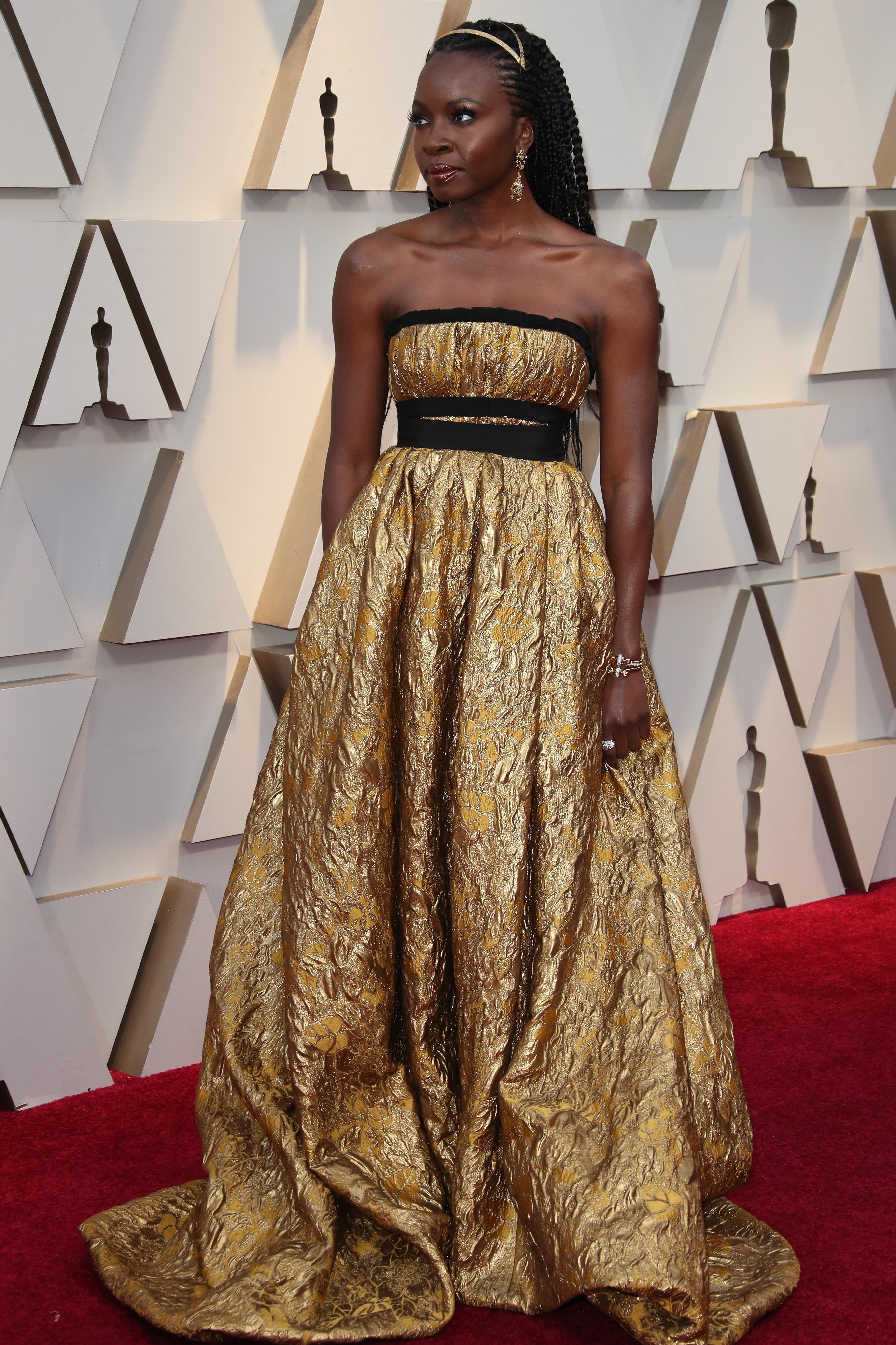 February 24, 2019; Los Angeles, CA, USA; Danai Gurira arrives at the 91st Academy Awards at the Dolby Theatre. Mandatory Credit: Dan MacMedan-USA TODAY NETWORK