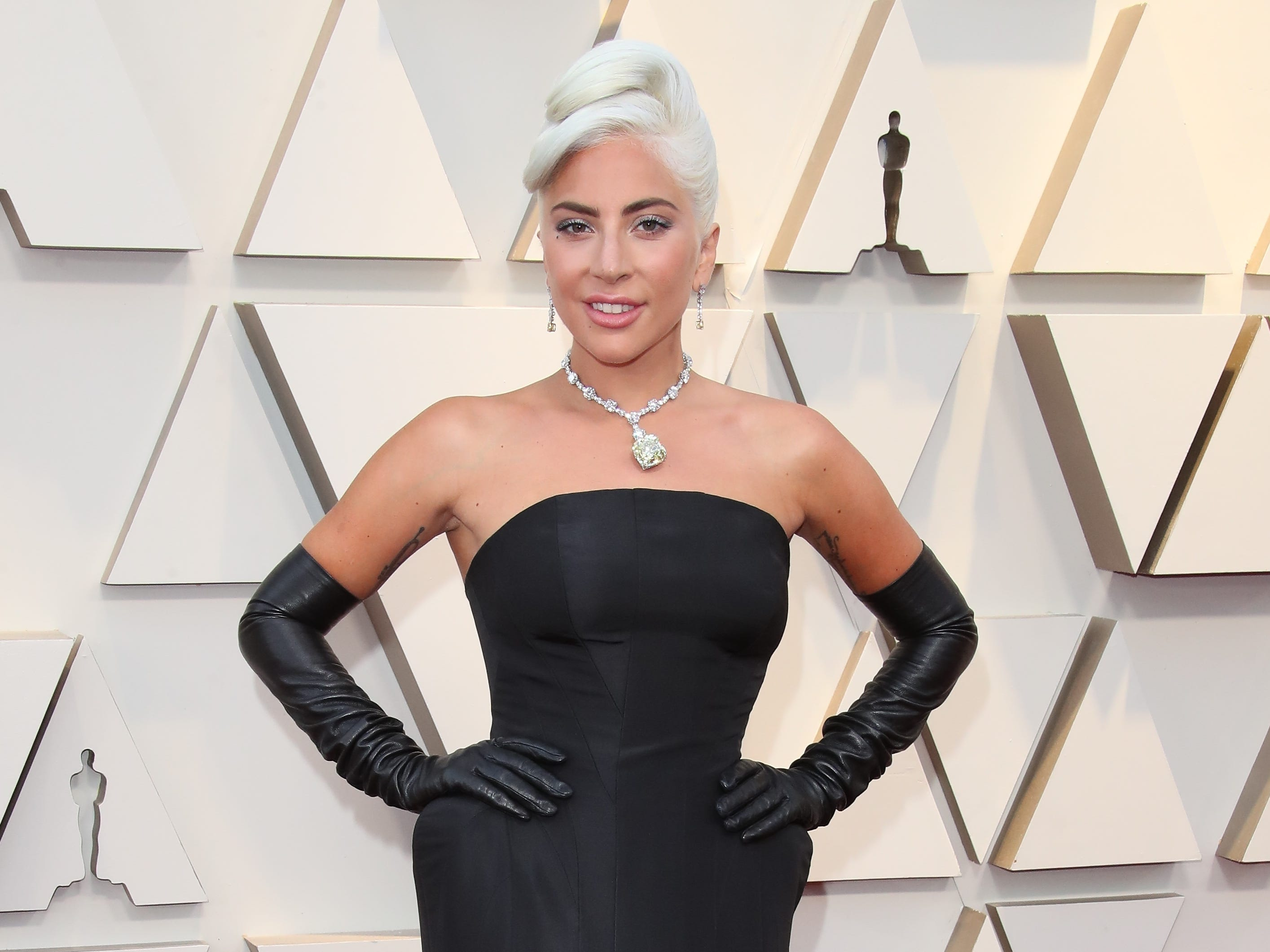February 24, 2019; Los Angeles, CA, USA; Lady Gaga arrives at the 91st Academy Awards at the Dolby Theatre. Mandatory Credit: Dan MacMedan-USA TODAY NETWORK (Via OlyDrop)