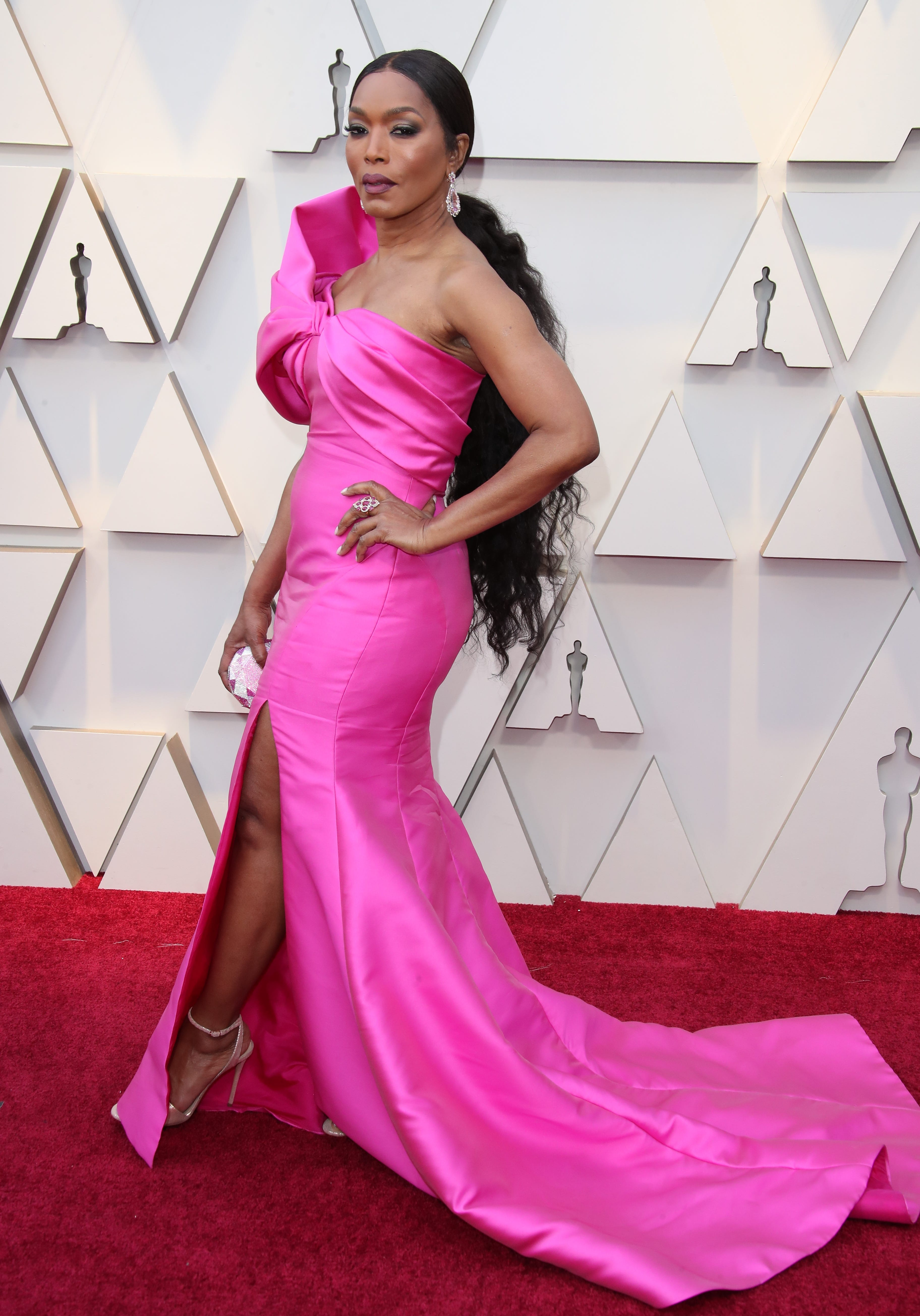 February 24, 2019; Los Angeles, CA, USA; Angela Bassett arrives at the 91st Academy Awards at the Dolby Theatre. Mandatory Credit: Dan MacMedan-USA TODAY NETWORK (Via OlyDrop)
