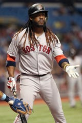 Hanley Ramirez played in just 44 games last season with the Red Sox before he was released.