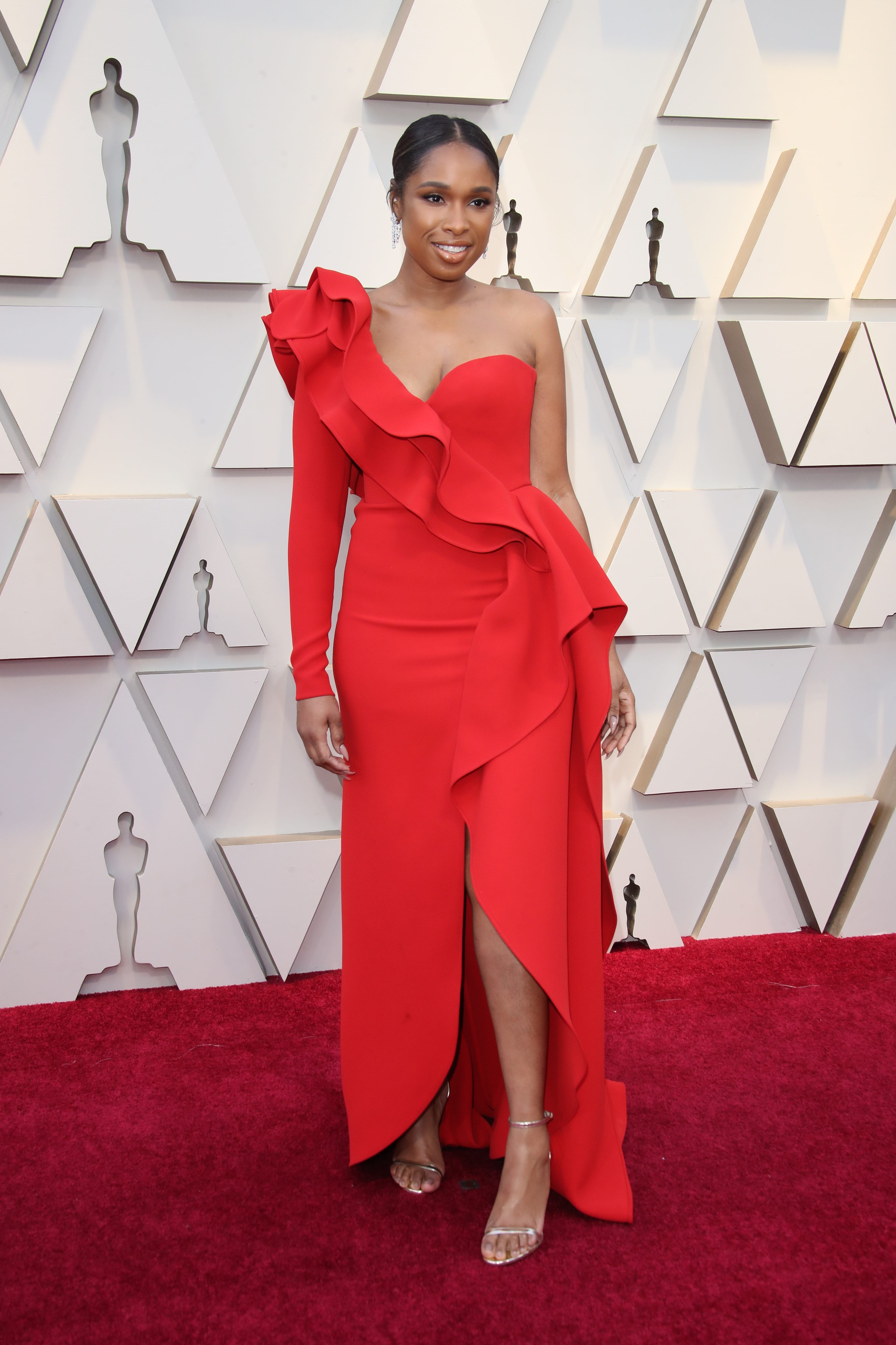 February 24, 2019; Los Angeles, CA, USA; Jennifer Hudson arrives at the 91st Academy Awards at the Dolby Theatre. Mandatory Credit: Dan MacMedan-USA TODAY NETWORK (Via OlyDrop)