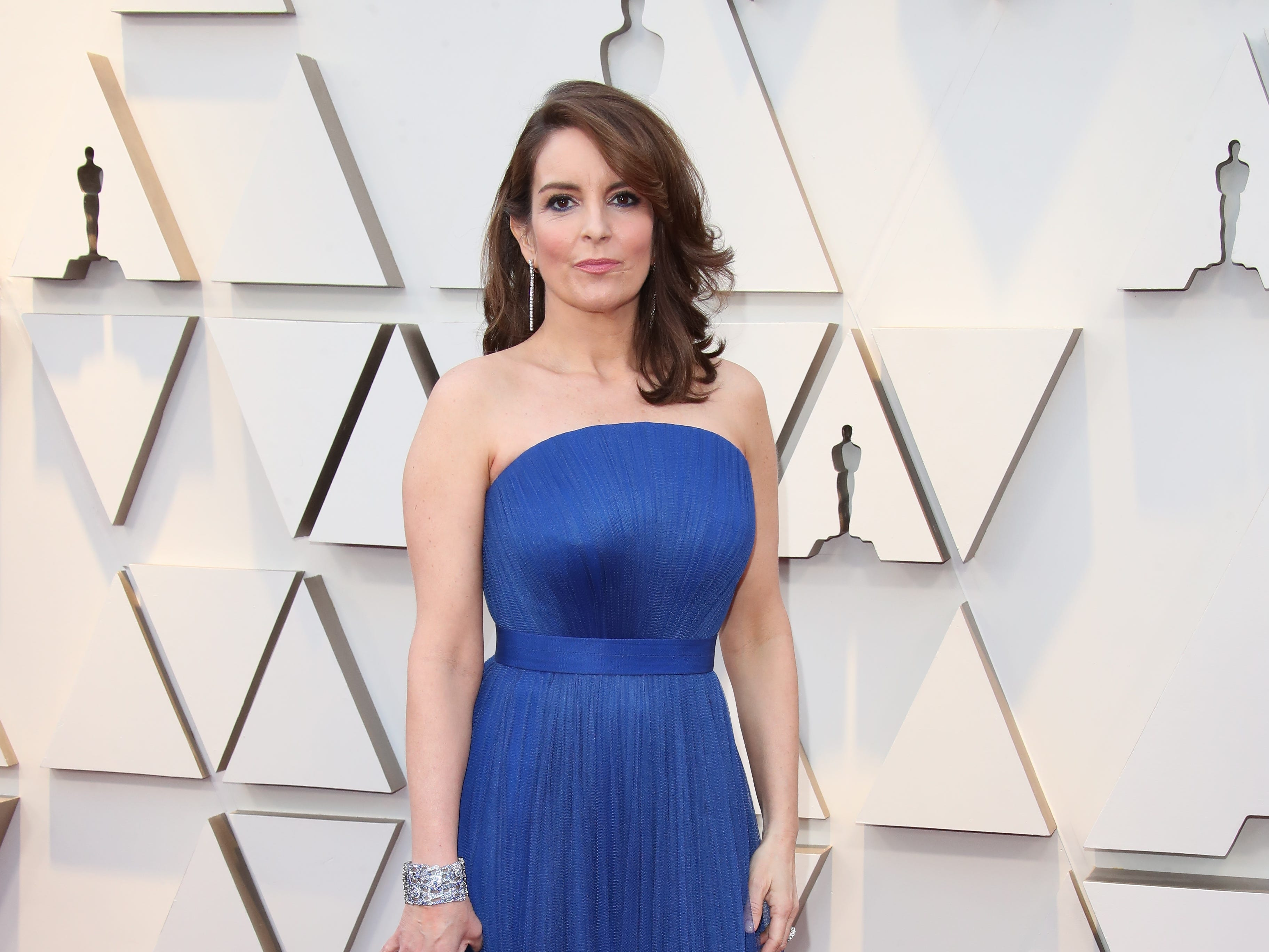 February 24, 2019; Los Angeles, CA, USA; Tina Fey arrives at the 91st Academy Awards at the Dolby Theatre. Mandatory Credit: Dan MacMedan-USA TODAY NETWORK (Via OlyDrop)
