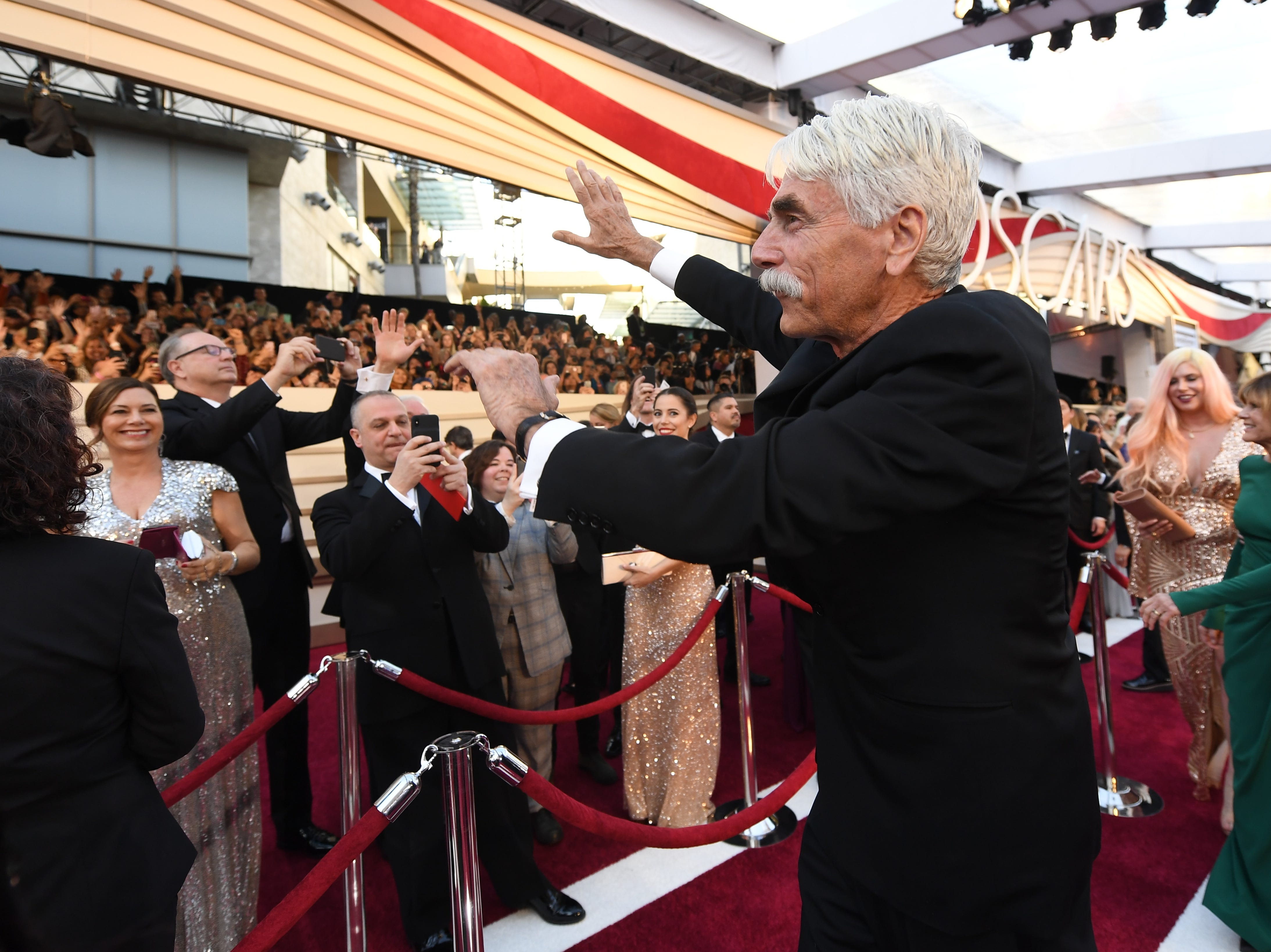 February 24, 2019; Los Angeles, CA, USA; Sam Elliott arrives at the 91st Academy Awards at the Dolby Theatre. Mandatory Credit: Robert Hanashiro-USA TODAY NETWORK (Via OlyDrop)