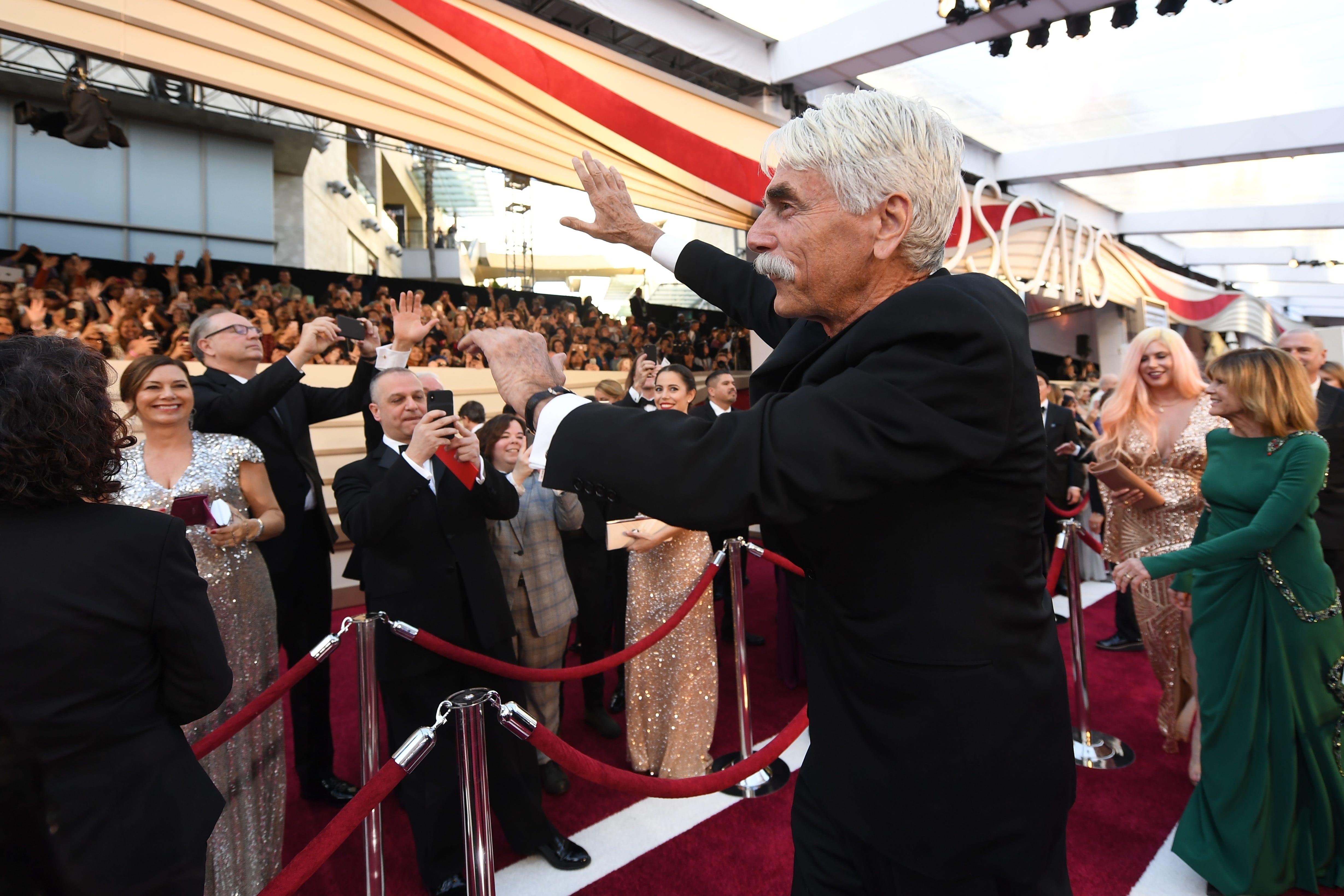 February 24, 2019; Los Angeles, CA, USA; Sam Elliott arrives at the 91st Academy Awards at the Dolby Theatre. Mandatory Credit: Robert Hanashiro-USA TODAY NETWORK (Via OlyDrop)