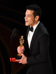 """Rami Malek wins best actor for """"Bohemian Rhapsody"""" at the 91st Academy Awards."""