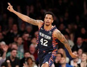 Former New York Knicks forward Lance Thomas signed with the Brooklyn Nets on Friday.