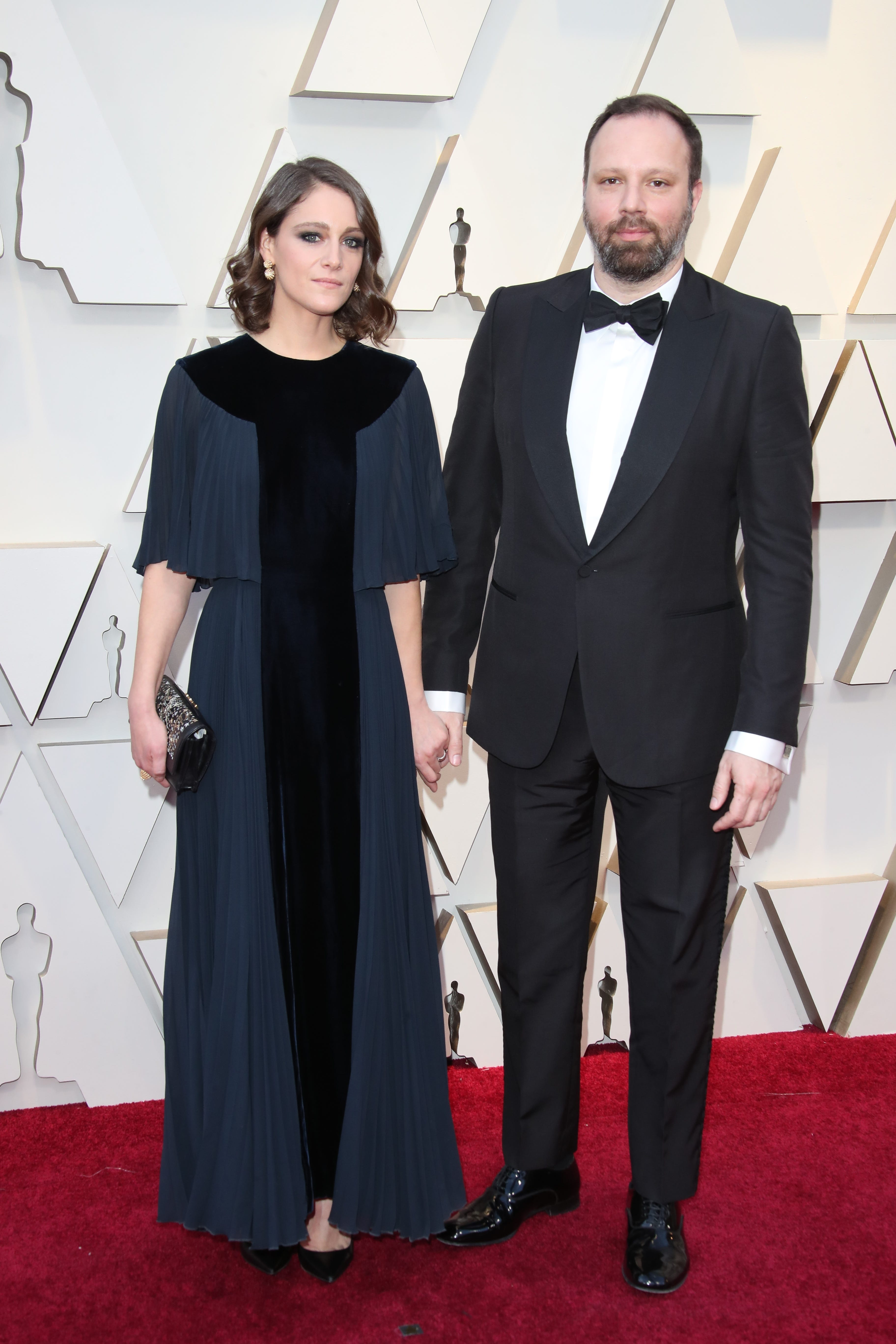 February 24, 2019; Los Angeles, CA, USA; Ariane Labed, left and Yorgos Lanthimos arrive at the 91st Academy Awards at the Dolby Theatre. Mandatory Credit: Dan MacMedan-USA TODAY NETWORK (Via OlyDrop)