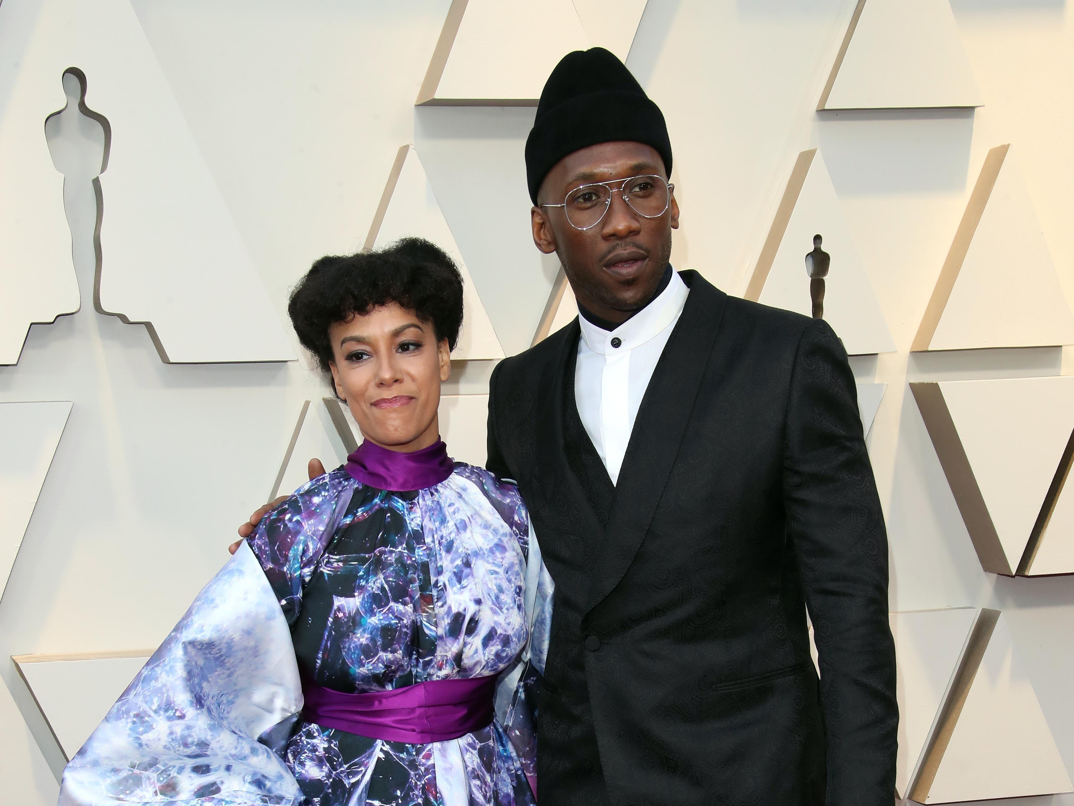 February 24, 2019; Los Angeles, CA, USA; Amatus Sami-Karim, left and Mahershala Ali arrive at the 91st Academy Awards at the Dolby Theatre. Mandatory Credit: Dan MacMedan-USA TODAY NETWORK