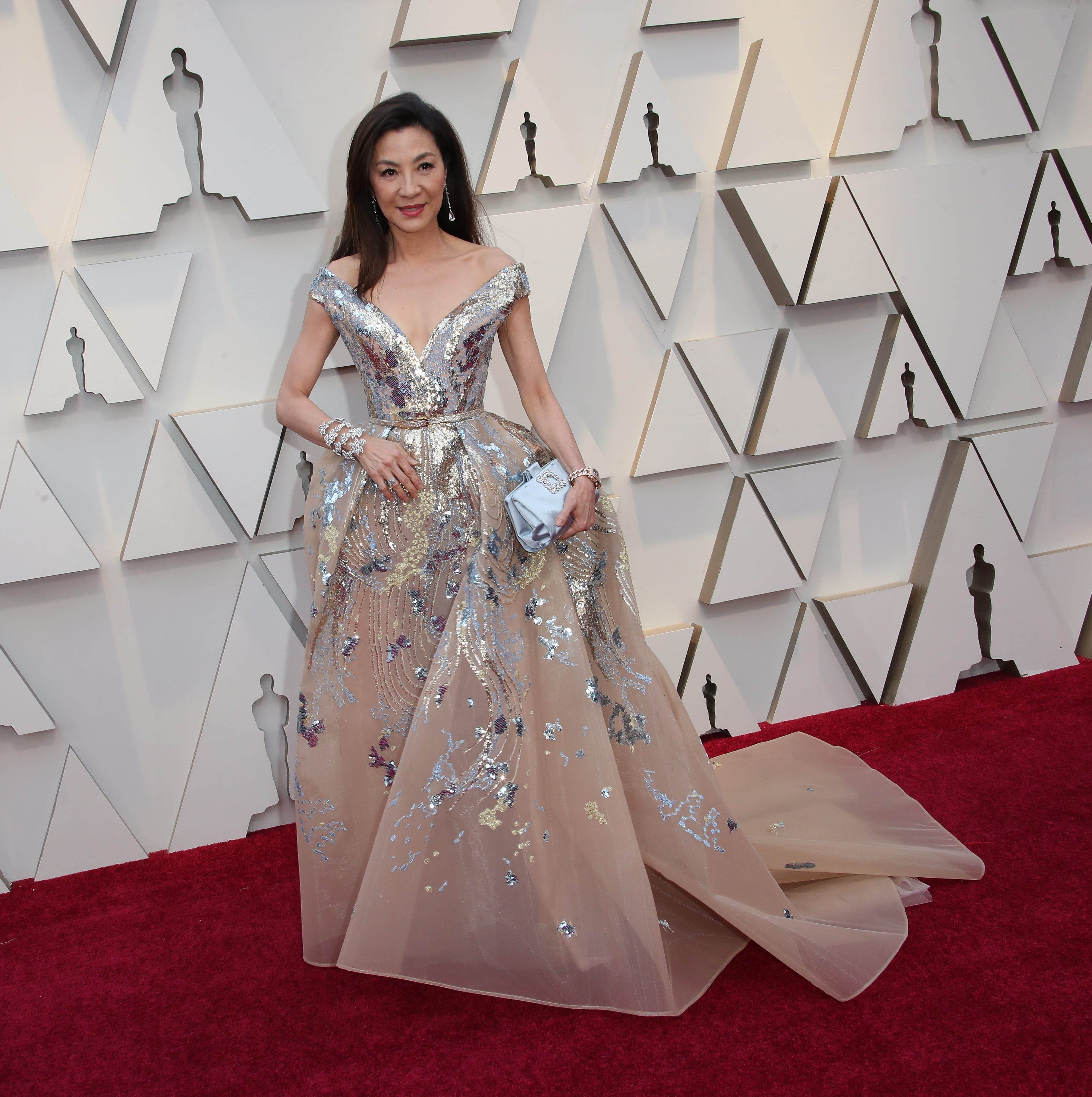 February 24, 2019; Los Angeles, CA, USA; Michelle Yeoh arrives at the 91st Academy Awards at the Dolby Theatre. Mandatory Credit: Dan MacMedan-USA TODAY NETWORK (Via OlyDrop)