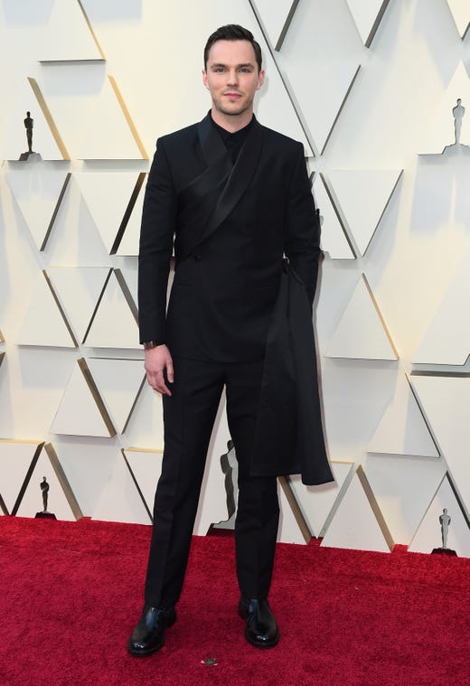 Nicholas Hoult arrives at the Oscars on Sunday, Feb. 24, 2019, at the Dolby Theatre in Los Angeles. (Photo by Jordan Strauss/Invision/AP) ORG XMIT: CARA626