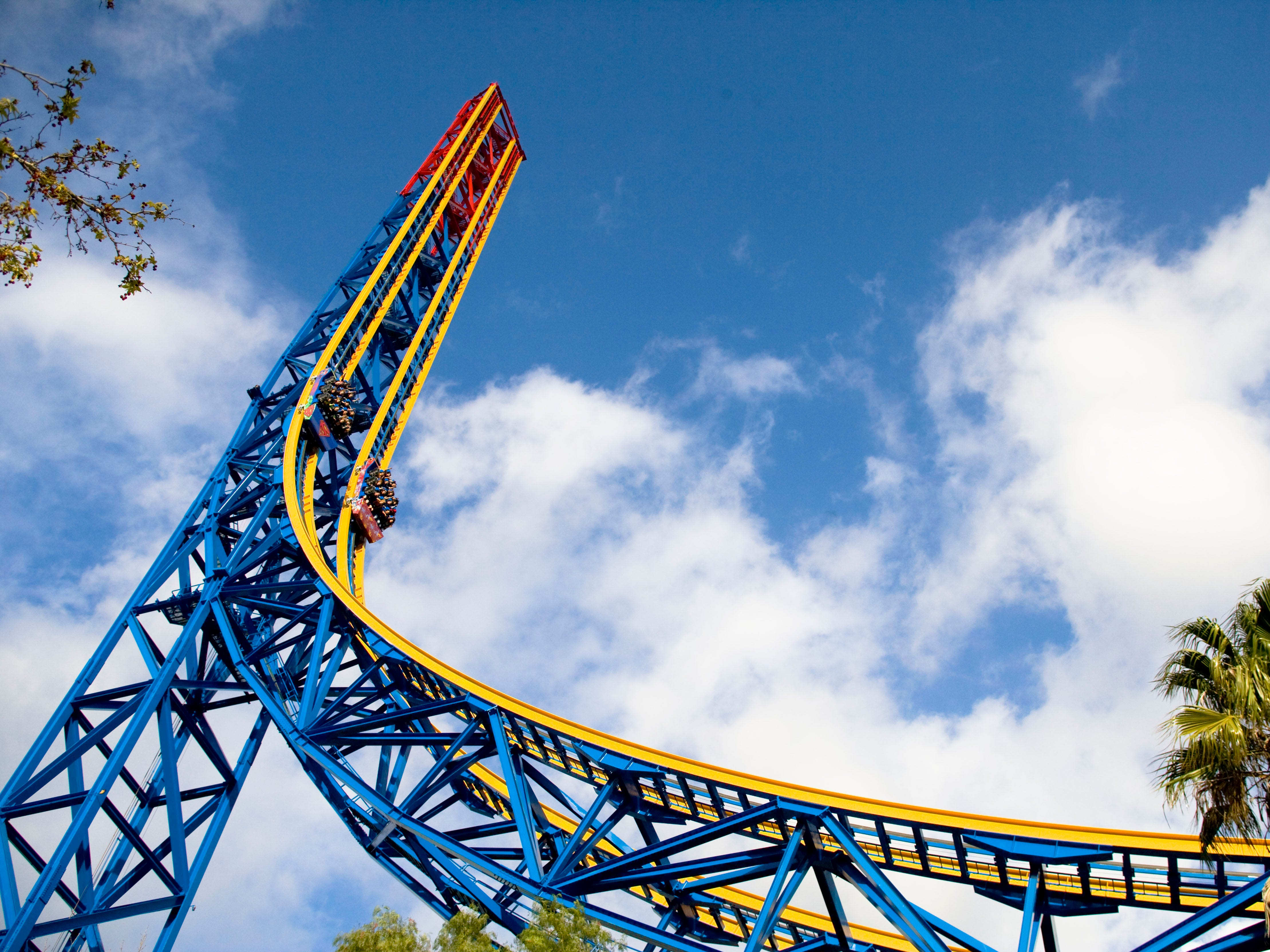 Superman: Escape from Krypton at Six Flags Magic Mountain in Valencia, California.