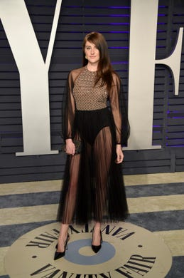 Shailene Woodley arrives at the Vanity Fair Oscar Party on Sunday, Feb. 24, 2019, in Beverly Hills, Calif. (Photo by Evan Agostini/Invision/AP) ORG XMIT: CATO254