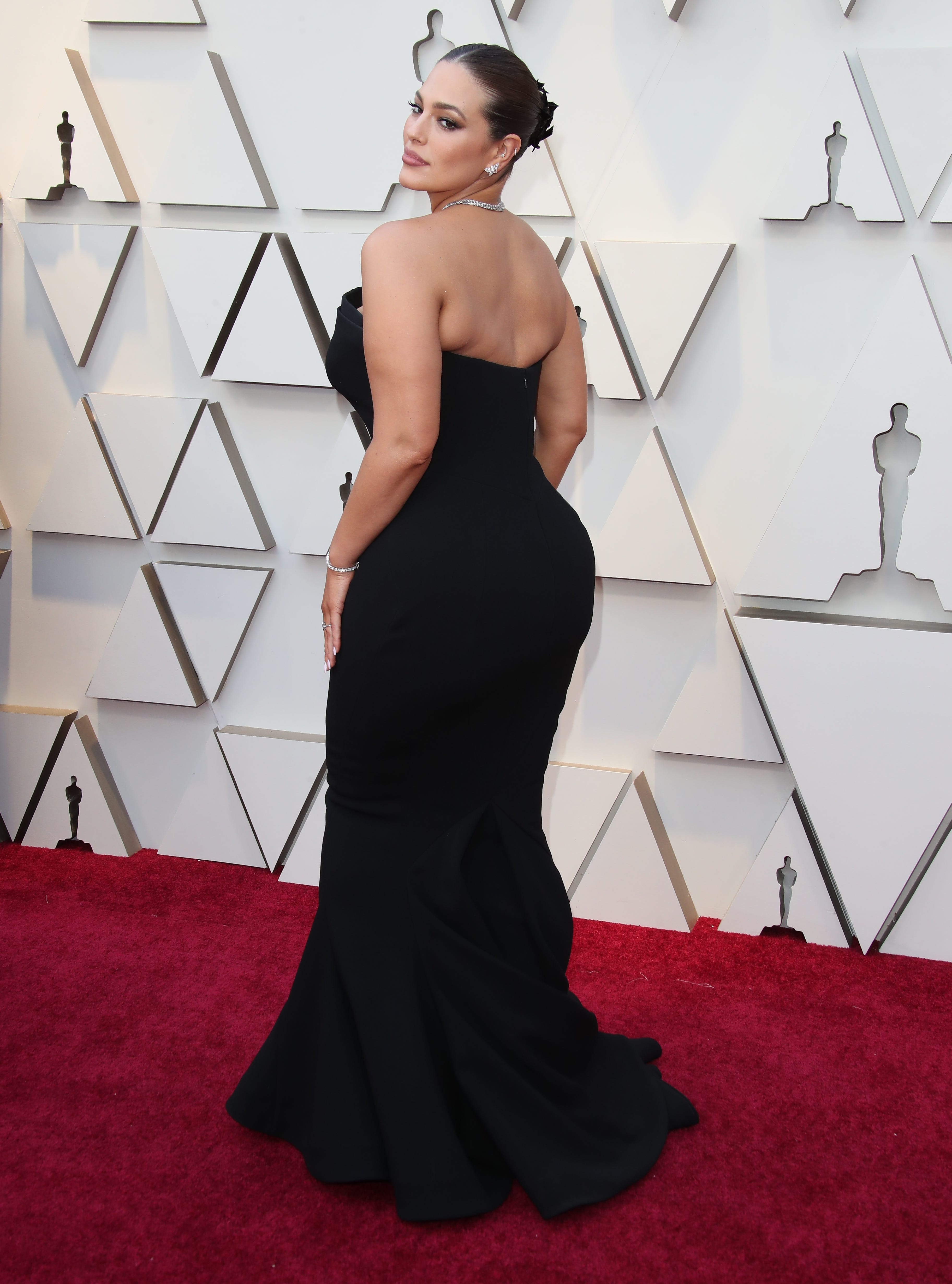 February 24, 2019; Los Angeles, CA, USA; Ashley Graham arrives at the 91st Academy Awards at the Dolby Theatre. Mandatory Credit: Dan MacMedan-USA TODAY NETWORK (Via OlyDrop)