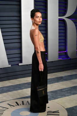 BEVERLY HILLS, CA - FEBRUARY 24:  Zoe Kravitz attends the 2019 Vanity Fair Oscar Party hosted by Radhika Jones at Wallis Annenberg Center for the Performing Arts on February 24, 2019 in Beverly Hills, California.  (Photo by Dia Dipasupil/Getty Images) ORG XMIT: 775287342 ORIG FILE ID: 1127287671