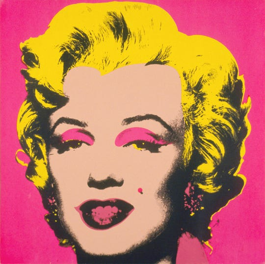 One of Andy Warhol's famous screen prints of Marilyn Monroe is on display at the Trout Museum of Art in downtown Appleton.