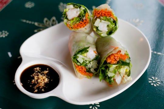 Fresh rolls from the Boon Choo Thai Express in Flat Rock Feb. 21, 2019.