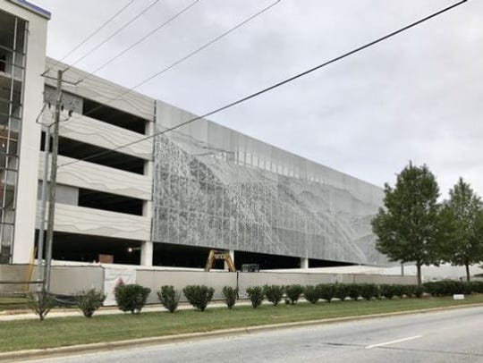 Asheville Regional Airport's new $22M parking deck opened in 2017.