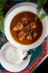 Massaman curry from the Boon Choo Thai Express in Flat Rock Feb. 21, 2019.