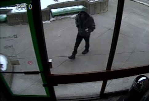 The suspect in a Feb. 23, 2019 robbery at Citizens Bank in Binghamton.