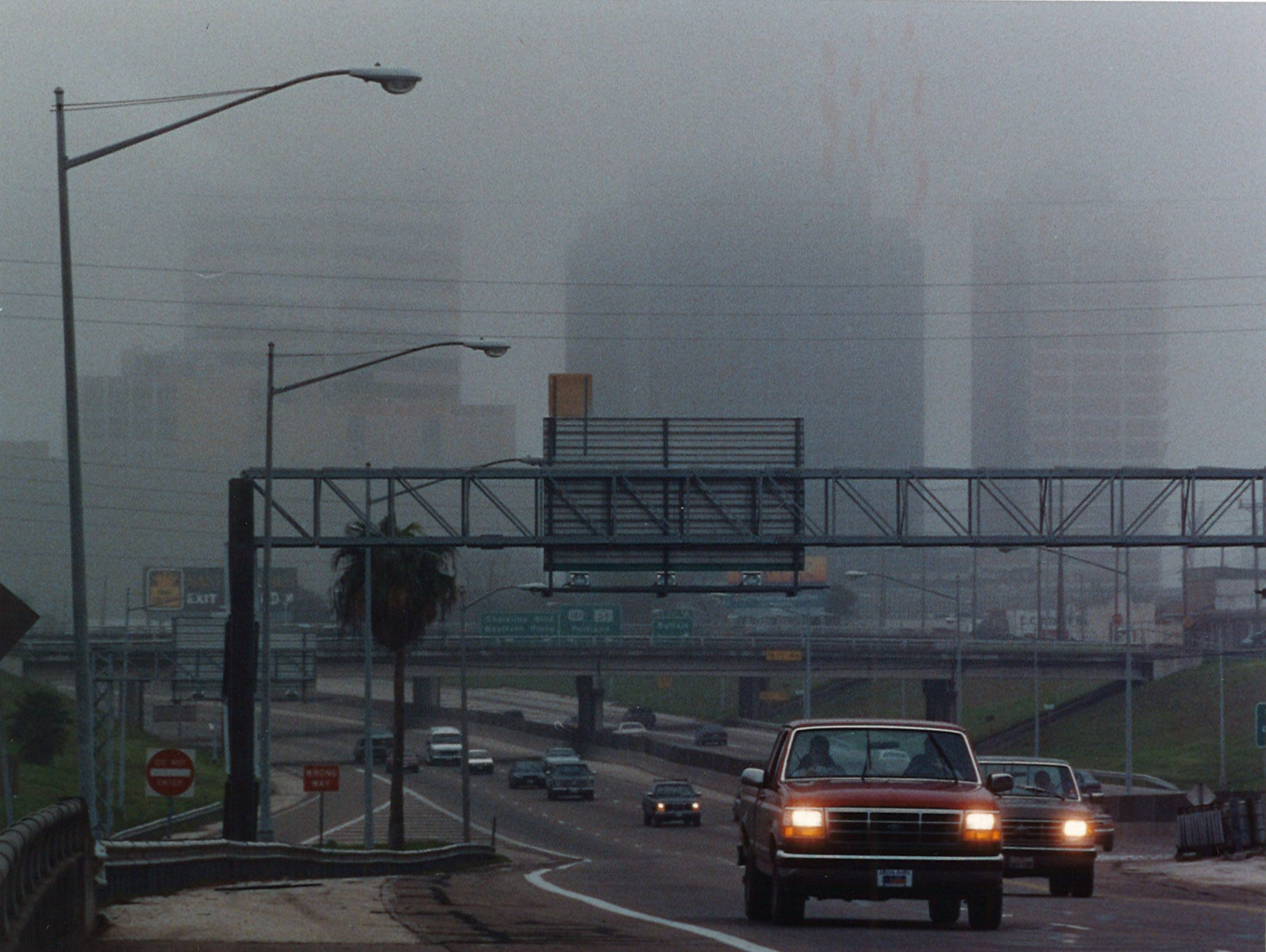 Fog blanketed downtown Corpus Christi until noon on Jan. 8, 1992.