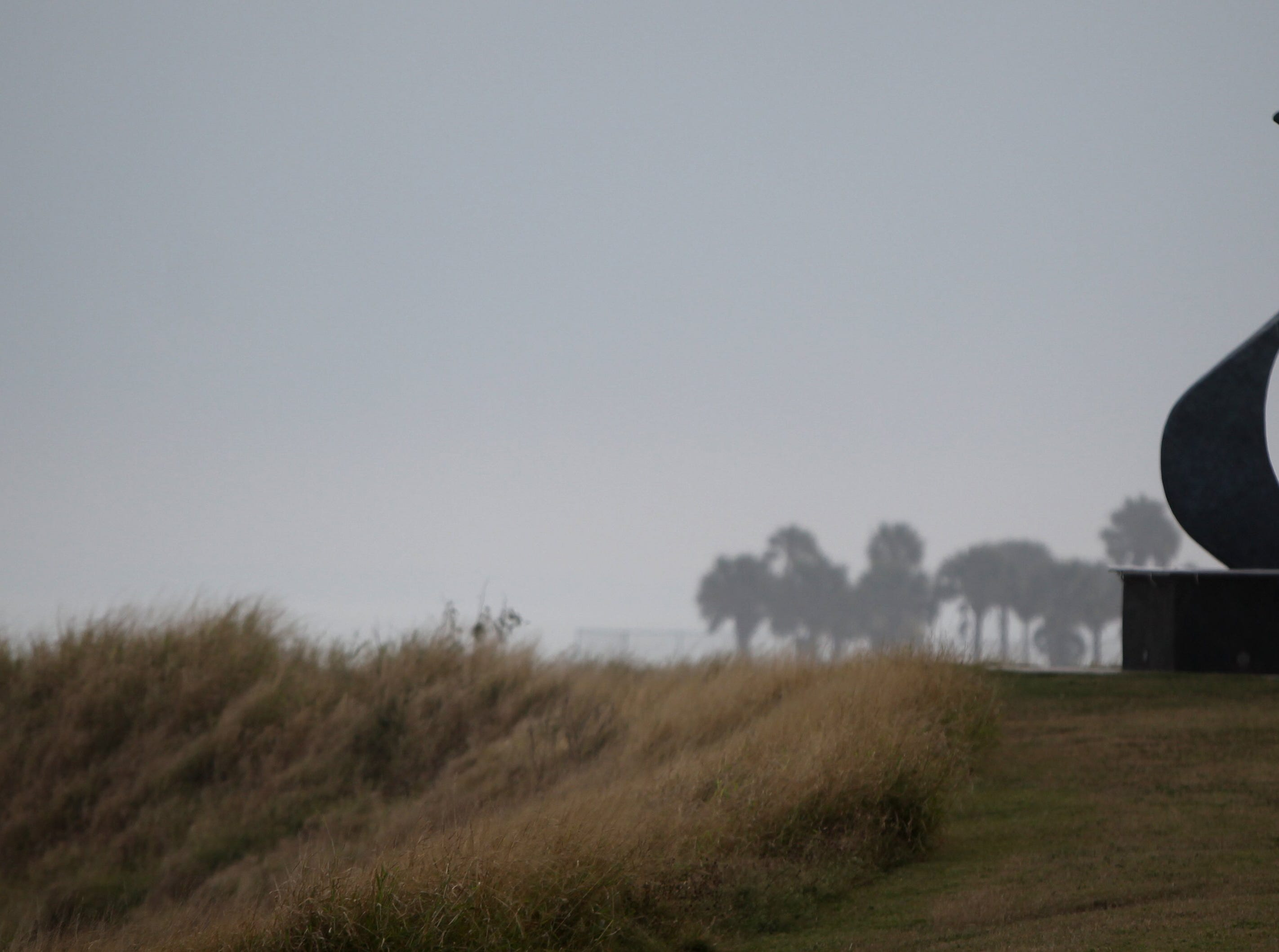 Fog rolled into Corpus Christi's Cole Park on Dec. 5, 2013.