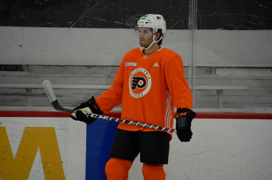 Ryan Hartman had an optional morning skate Tuesday before making his Flyers debut against the Buffalo Sabres.