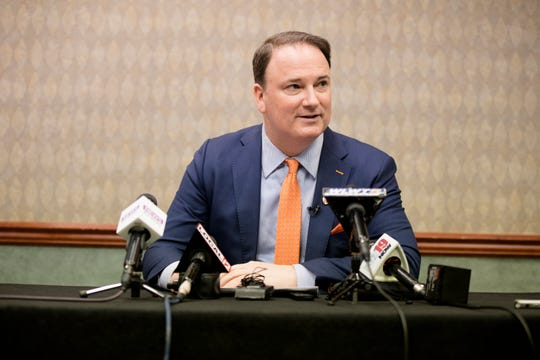 Jeff Berding, FC Cincinnati president, speaks at FC Cincinnati's media day on Tuesday, Feb. 26, 2019, in Cincinnati.