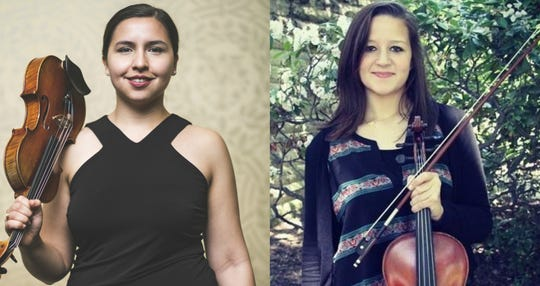 Violinist Aurora Mendez and violist Christine Sherlock will perform March 7 at Wharton Institute for the Performing Arts in Berkeley Heights.