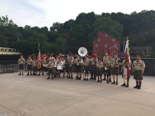 The Clinton Boy Scout Troop 121 Marching Band
