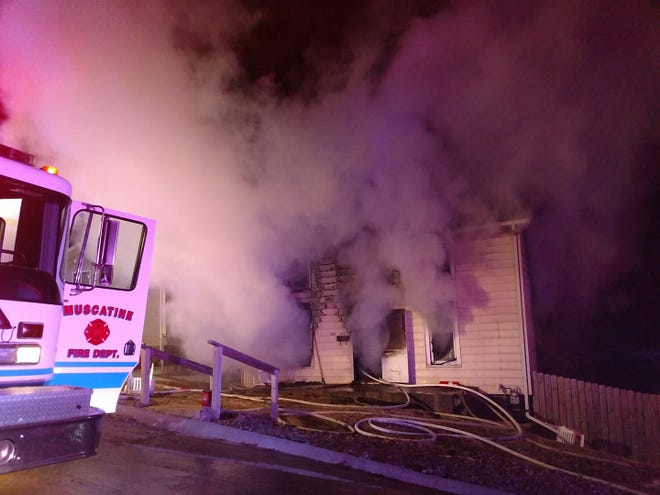A house fire in Muscatine, Iowa, on Monday, Feb. 25, 2019, left three people dead. One person has been critically injured.