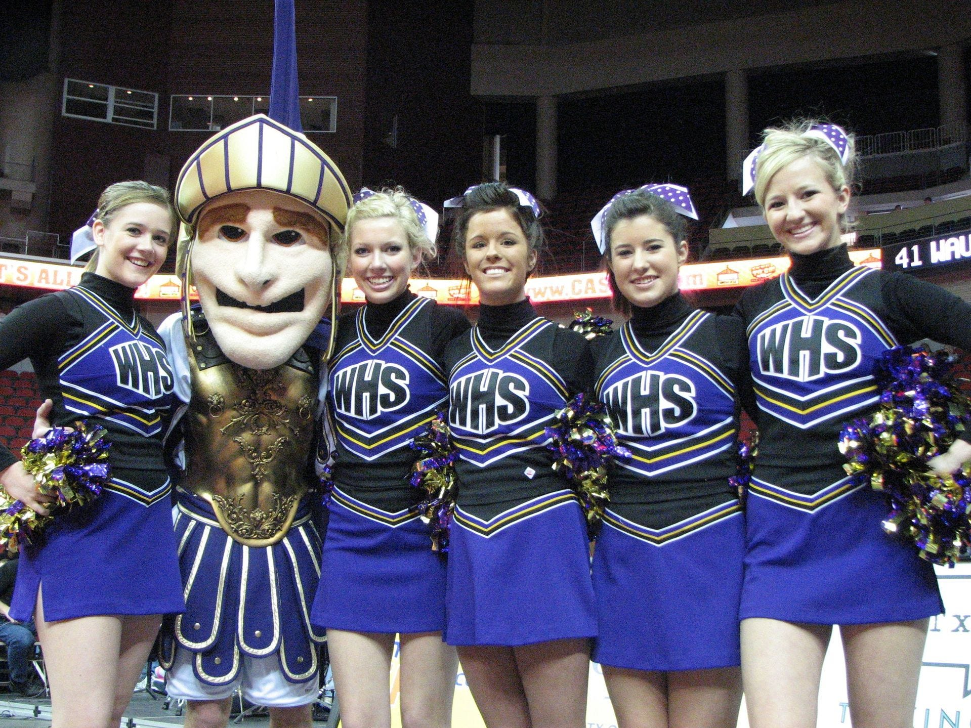 2009: Waukee cheerleaders couldn't help their team win against Cedar Rapids Kennedy in the first round of the state girls' basketball tournament at Wells Fargo Arena. Register file photo