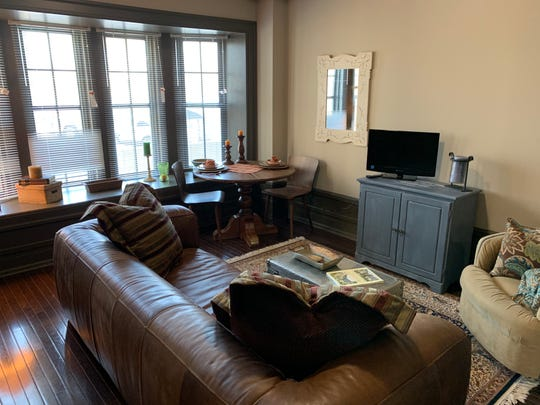 A furnished unit in Saint Rita Apartments