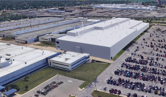 A rendering of Fiat Chrysler Automobile's new Jeep assembly plant viewed from the north with Jefferson North Assembly in the background. FCA's announced plans to convert the Mack Avenue Engine Complex as part of a $4.5 billon investment into southeast Michigan.