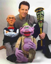 Jeff Dunham with three of his best-known characters: Walter, left, Peanut and Jose Jalapeno.